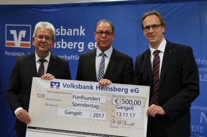 500 Euro Belohnung für unser Engagement