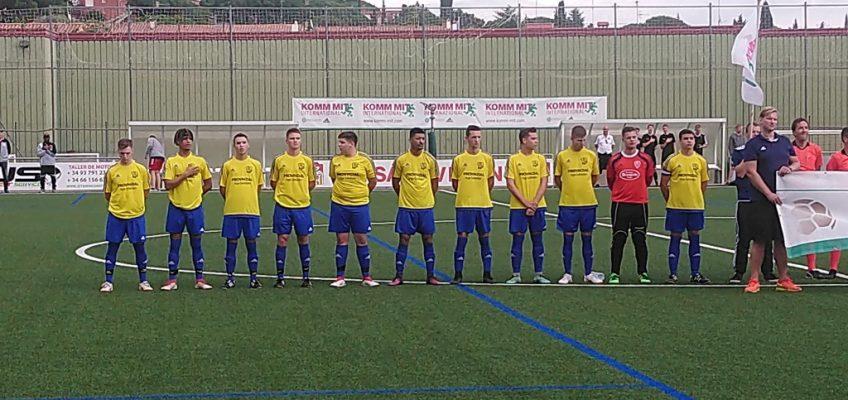A-Jugend vor dem letzten Spiel in Spanien gegen den SV Lembeck