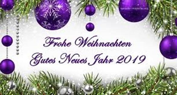 Weihnachtsgruss und Neujahrswünsche 2019