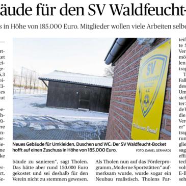 Neues Gebäude für den SV Waldfeucht-Bocket