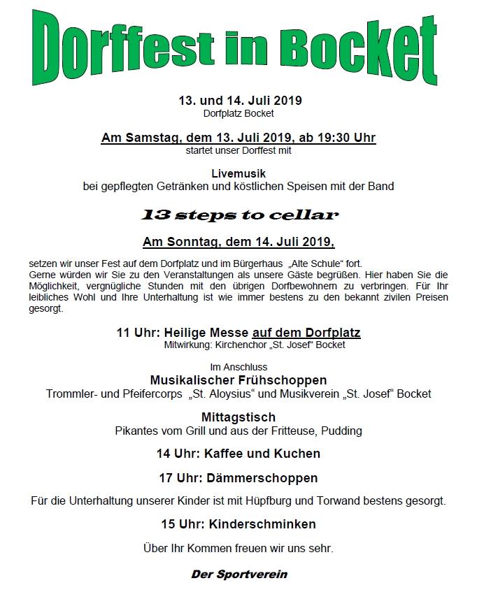 Dorffest Bocket 2019